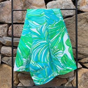 Lilly Pulitzer Alina Slim Pants Green Fronds 6